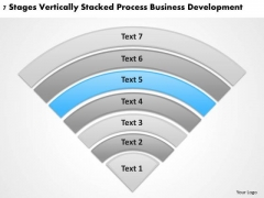 Vertically Stacked Process Business Deveopment Plan Builder PowerPoint Slides