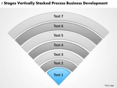 Vertically Stacked Process Business Deveopment Plans Made Easy PowerPoint Slides