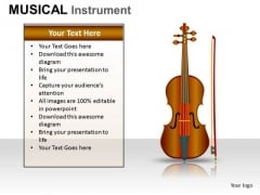 Violin Musical Instrument PowerPoint Slides And Ppt Diagram Templates