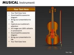 Violin PowerPoint Template Ppt Slide With Violin