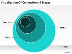 Visualization Of Connections 4 Stages Growthink Business Plan Template PowerPoint Templates