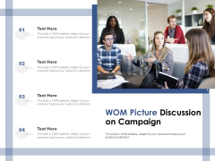 WOM Picture Discussion On Campaign Ppt PowerPoint Presentation Summary Ideas