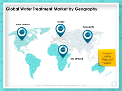 WQM System Global Water Treatment Market By Geography Ppt PowerPoint Presentation Infographic Template Icon PDF