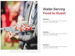 Waiter Serving Food To Guest Ppt PowerPoint Presentation Infographic Template Format