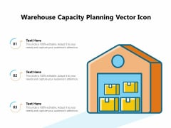 Warehouse Capacity Planning Vector Icon Ppt PowerPoint Presentation Icon Example File PDF