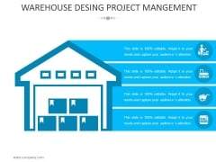 Warehouse Desing Project Management Template 1 Ppt PowerPoint Presentation Visual Aids Slides
