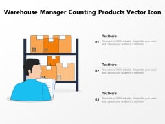 Warehouse Manager Counting Products Vector Icon Ppt PowerPoint Presentation Layouts Slide Portrait PDF