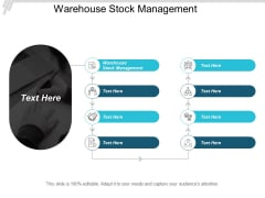 Warehouse Stock Management Ppt PowerPoint Presentation Infographic Template Tips Cpb