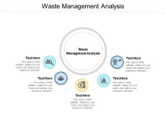 Waste Management Analysis Ppt PowerPoint Presentation Show Graphic Tips Cpb