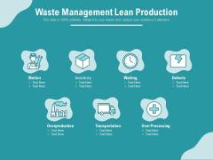 Waste Management Lean Production Ppt PowerPoint Presentation Ideas Graphics PDF