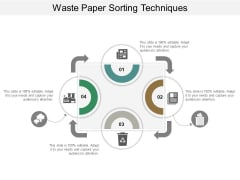 Waste Paper Sorting Techniques Ppt Powerpoint Presentation Professional Vector