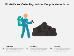 Waste Picker Collecting Junk For Recycle Vector Icon Ppt PowerPoint Presentation File Background PDF