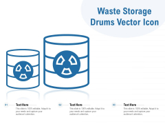 Waste Storage Drums Vector Icon Ppt PowerPoint Presentation File Formats PDF