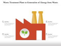 Waste Treatment Plant To Generation Of Energy From Waste Ppt Icon Pictures PDF