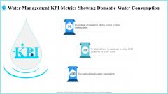 Water Management KPI Metrics Showing Domestic Water Consumption Information PDF