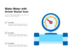 Water Meter With Arrow Vector Icon Ppt PowerPoint Presentation Summary PDF