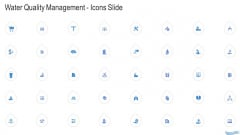 Water Quality Management Icons Slide Formats PDF