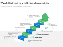 Waterfall Methodology With Design A Implementation Ppt PowerPoint Presentation File Guide PDF