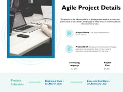 Waterfall Project Prioritization Methodology Agile Project Details Ppt Slides Summary PDF
