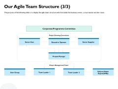 Waterfall Project Prioritization Methodology Our Agile Team Structure Executive Ppt Slides Portrait PDF
