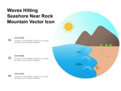 Waves Hitting Seashore Near Rock Mountain Vector Icon Ppt PowerPoint Presentation File Model PDF