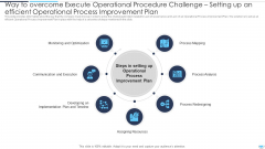 Way To Overcome Operational Process Improvement Challenge Setting Up An Efficient Execute Operational Procedure Plan Icons PDF