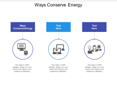 Ways Conserve Energy Ppt PowerPoint Presentation Summary Good Cpb