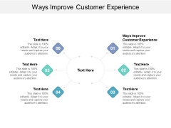 Ways Improve Customer Experience Ppt PowerPoint Presentation Pictures Graphics Cpb
