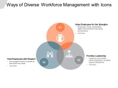 Ways Of Diverse Workforce Management With Icons Ppt Powerpoint Presentation Model Elements