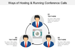Ways Of Hosting And Running Conference Calls Ppt Powerpoint Presentation Model Example Introduction
