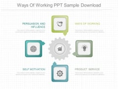 Ways Of Working Ppt Sample Download