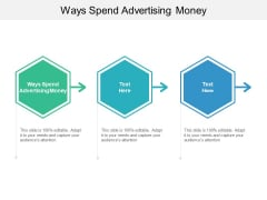 Ways Spend Advertising Money Ppt PowerPoint Presentation Professional Graphics Example Cpb