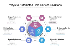 Ways To Automated Field Service Solutions Ppt PowerPoint Presentation Portfolio Grid PDF