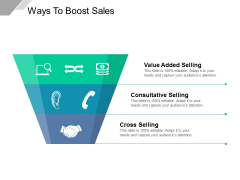 Ways To Boost Sales Ppt PowerPoint Presentation Gallery Vector