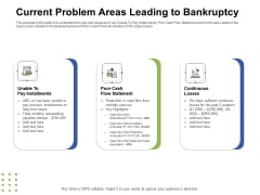 Ways To Bounce Back From Insolvency Current Problem Areas Leading To Bankruptcy Mockup PDF