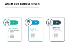 Ways To Build Business Network Ppt PowerPoint Presentation Icon Styles