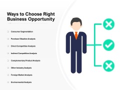 Ways To Choose Right Business Opportunity Ppt PowerPoint Presentation Professional Format PDF
