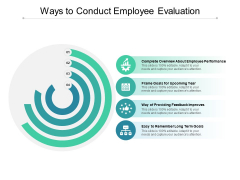 Ways To Conduct Employee Evaluation Ppt PowerPoint Presentation Icon Graphics Download
