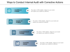 Ways To Conduct Internal Audit With Corrective Actions Ppt PowerPoint Presentation Summary Templates