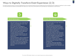 Ways To Digitally Transform Event Experience Mobile Download PDF