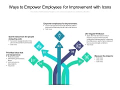 Ways To Empower Employees For Improvement With Icons Ppt PowerPoint Presentation Infographic Template Structure PDF