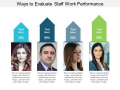 Ways To Evaluate Staff Work Performance Ppt PowerPoint Presentation Slides Aids