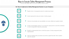 Ways To Execute Safety Management Process Ppt PowerPoint Presentation File Background PDF