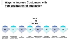 Ways To Impress Customers With Personalization Of Interaction Ppt PowerPoint Presentation Outline Show PDF