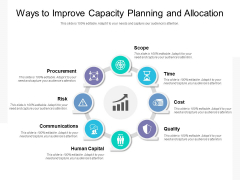 Ways To Improve Capacity Planning And Allocation Ppt PowerPoint Presentation Model Graphics PDF