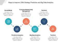 Ways To Improve Crm Strategy Predictive And Big Data Analytics Ppt PowerPoint Presentation Portfolio Information