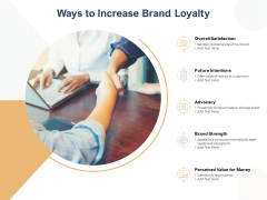 Ways To Increase Brand Loyalty Ppt PowerPoint Presentation Model Examples