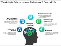 Ways To Make Balance Between Professional And Personal Life Ppt PowerPoint Presentation Portfolio Clipart