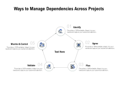 Ways To Manage Dependencies Across Projects Ppt PowerPoint Presentation Ideas