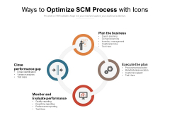 Ways To Optimize SCM Process With Icons Ppt PowerPoint Presentation Infographics Example